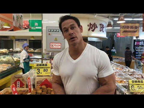 John Cena in China: Supermarket shopping in Yinchuan