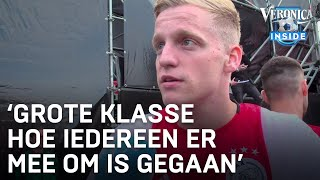 Donny van de Beek beleeft geslaagd kampioensfeest: 'Iedereen was dronken!'