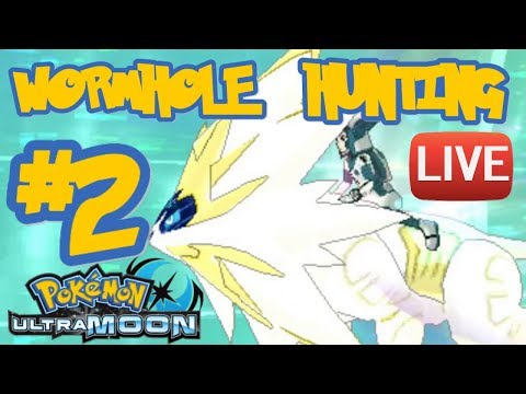 POKEMON ULTRA MOON! WORMHOLE SHINY HUNTING #2 COME CHAT AND HANG OUT
