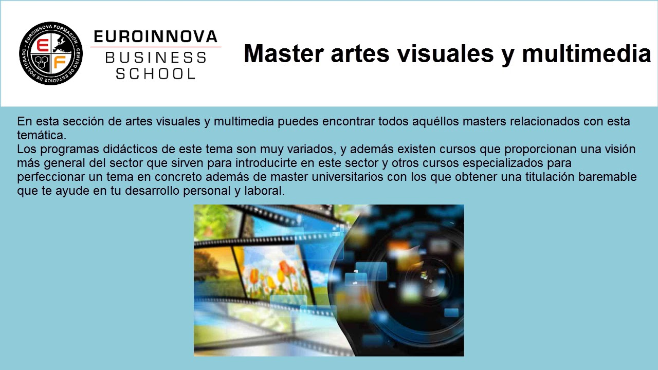 Master Artes Visuales Y Multimedia Youtube