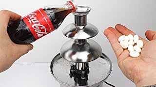 EXPERIMENT: What Happens if You Put COCA COLA and MENTOS on Chocolate Fountain