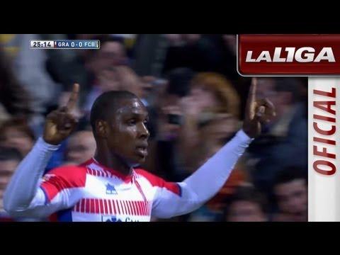 Gol de Ighalo (1-0) en el Granda CF - FC Barcelona  - HD