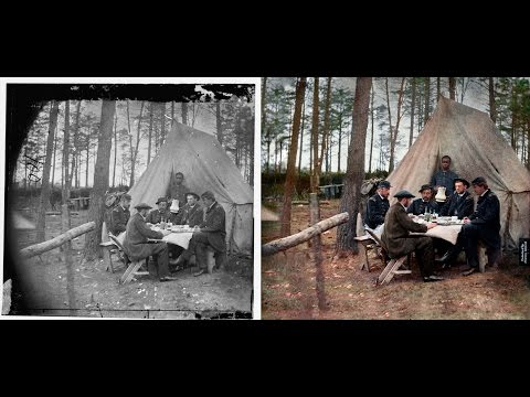 American Civil War 1865 - Photo Restoration & Colorization