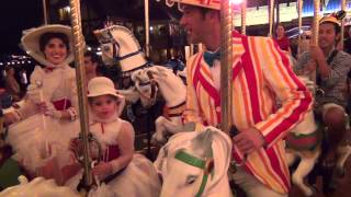 riding the carousel with mary poppins in disney