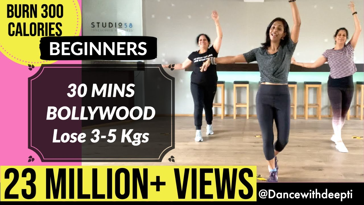Download 30 mins BEGINNERS Workout | Lose 3-5 kgs in 1 month | BOLLYWOOD Dance Fitness Workout # 25
