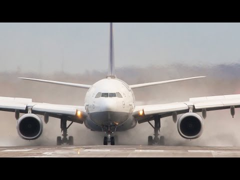 How one of the LONGEST PLANES in the world deals with Crosswinds - Airbus A340-600