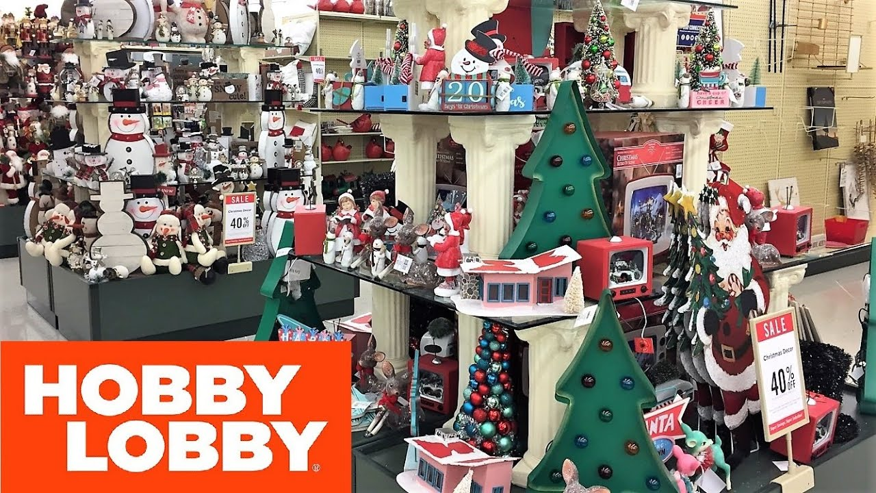 separation shoes df804 878b4 HOBBY LOBBY CHRISTMAS DECORATIONS CHRISTMAS DECOR - SHOP WITH ME SHOPPING  STORE WALK THROUGH 4K