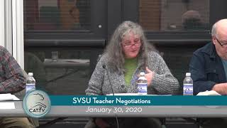 SVSU Teacher Negotiations // 01/30/20