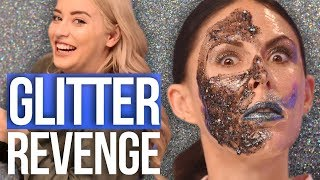 Full Face of Glitter CHALLENGE! Joslyn Gets a GLOW JOB?! (Beauty Break)