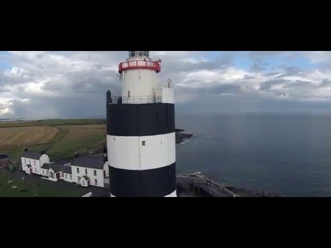 Hook Head Ireland lighthouse drone view