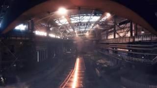 Производство 100-метровых рельсов ЕВРАЗ