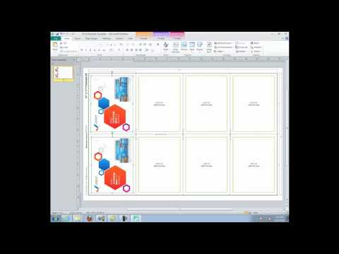 Template Download and Set Up: Using Microsoft Publisher