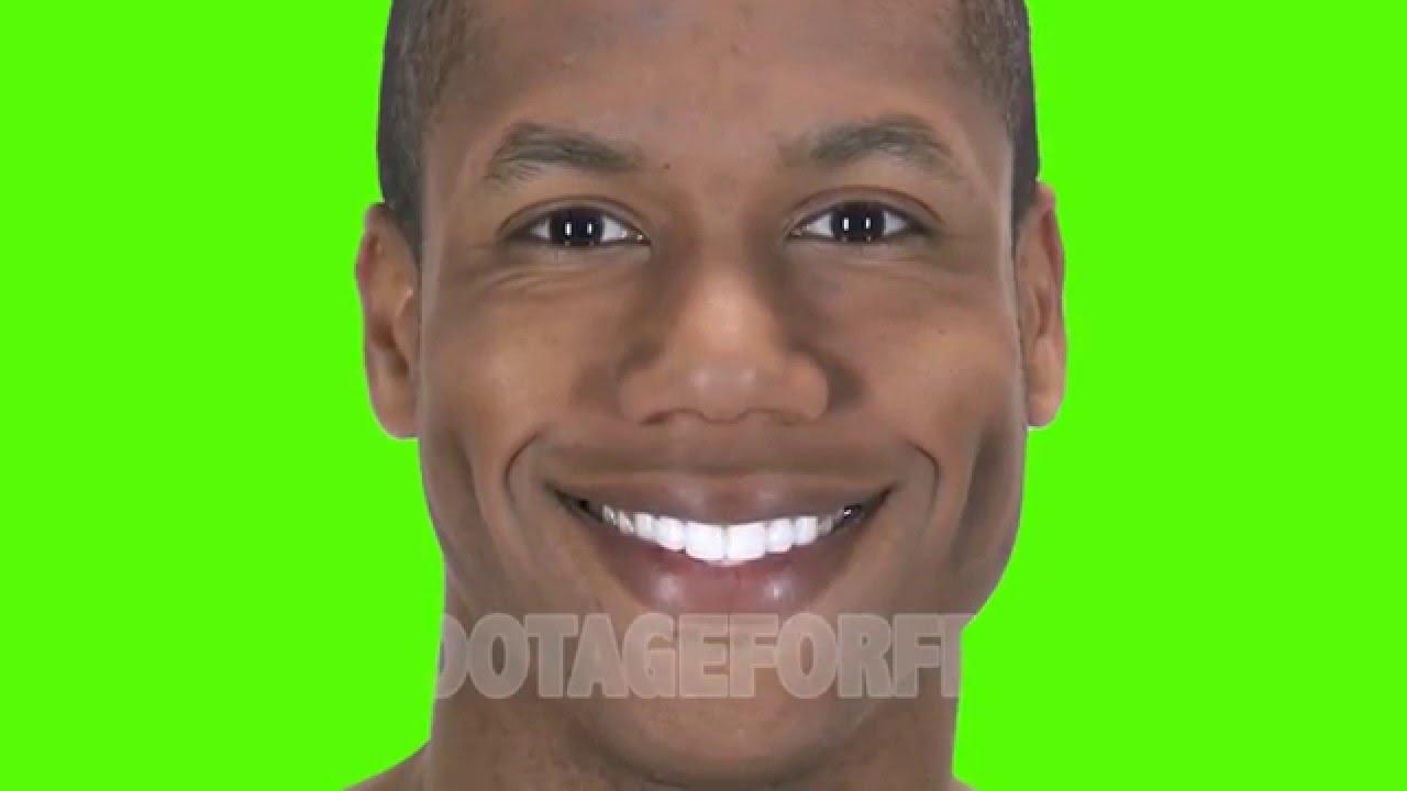 Black Man Smiling Stock Footage Green Screen - YouTube