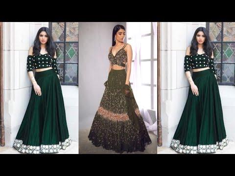 Dark Green Lehenga Choli Designs ||