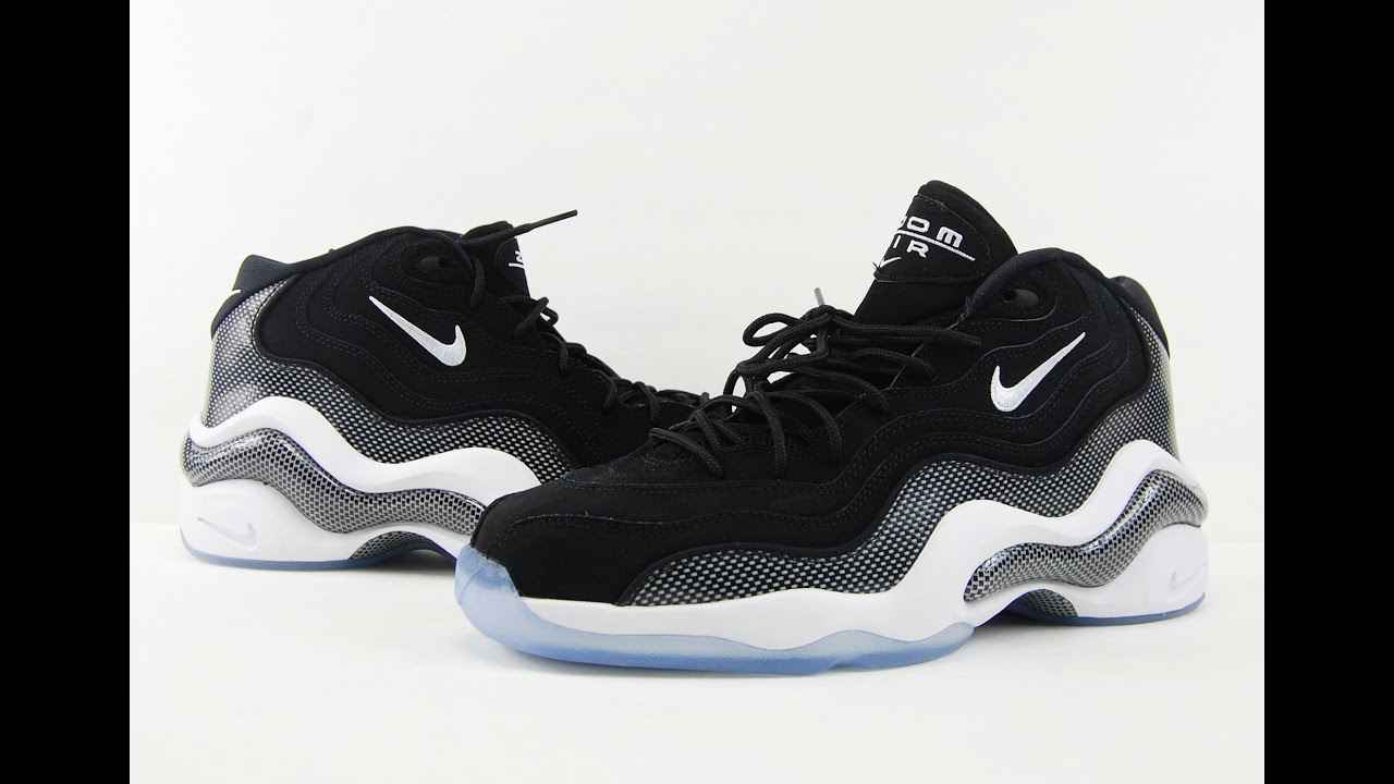 Nike Zoom Flight 96 Black White Carbon Fiber Retro 2016 Review + On Feet -  YouTube