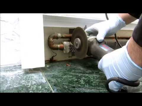 frozen heating pipe on hydronic heating system
