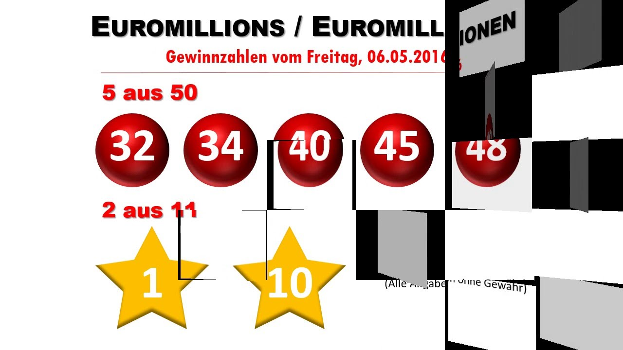 Euro Millionen Ziehung