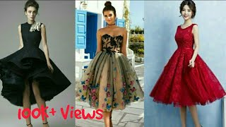 Latest Knee Length Gowns 2019 | Latest Evening Gowns  | Cocktail Dresses | Short Prom Dresses