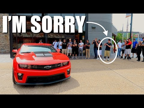 Revving A Straight Piped Camaro ZL1 In Public Is NEVER A Good Idea!! **Reactions**