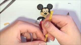Лепим Микки Мауса из пластилина. Mickey Mause of clay