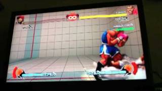 100% Damage with Balrog in 1 Combo (SF4)