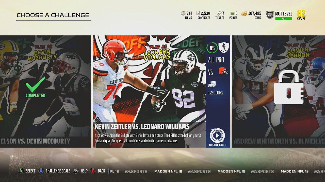 Madden NFL 18 MUT Heroes Defense Challenge 3