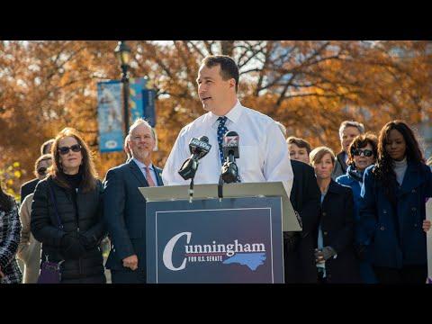 Democrat Cal Cunningham Announces Campaign For U.S. Senate