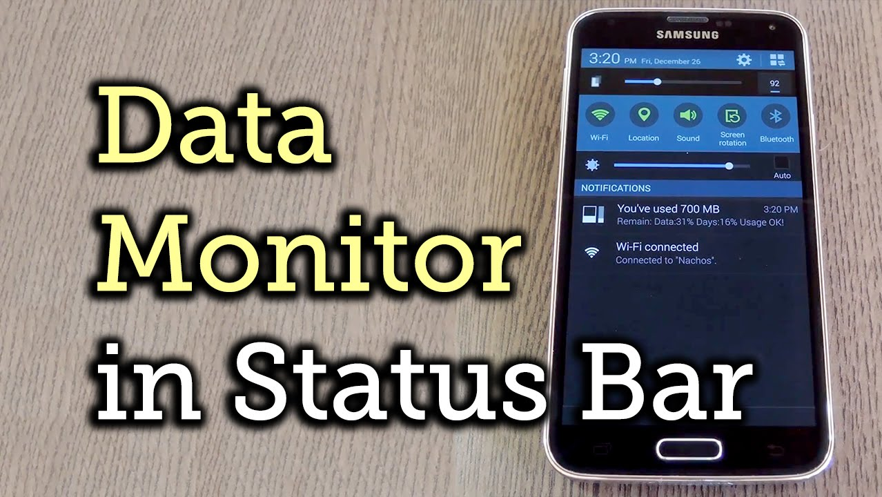 Get an Up-to-the-Minute Data Meter in Your Android's Status Bar [How-To]