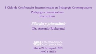 """Conferencia """"Filósofos y psicoanálisis""""."""