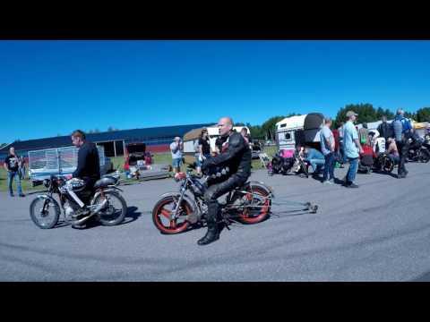 Dragracing mopeder Juni 2017 i Laxå