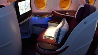 Qatar Airways A350 Business Class ✈ Adelaide to Doha QR915