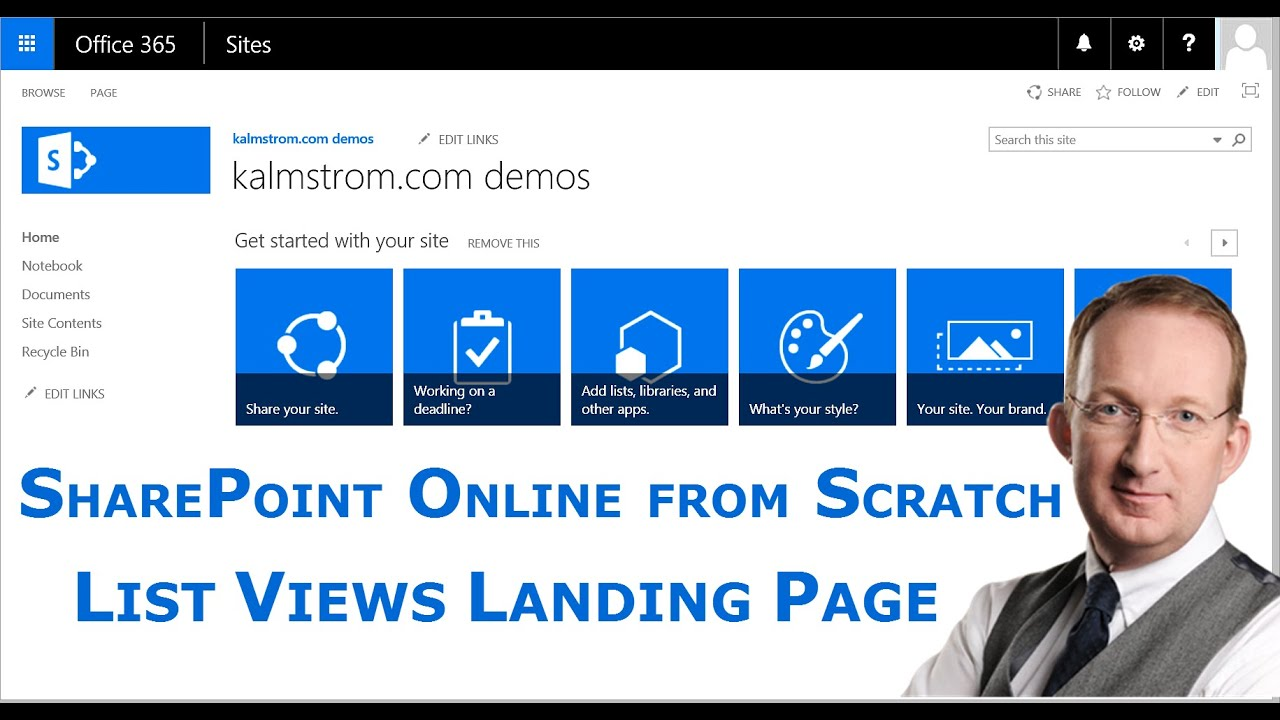 Sharepoint landing page for list views youtube sharepoint landing page for list views pronofoot35fo Choice Image