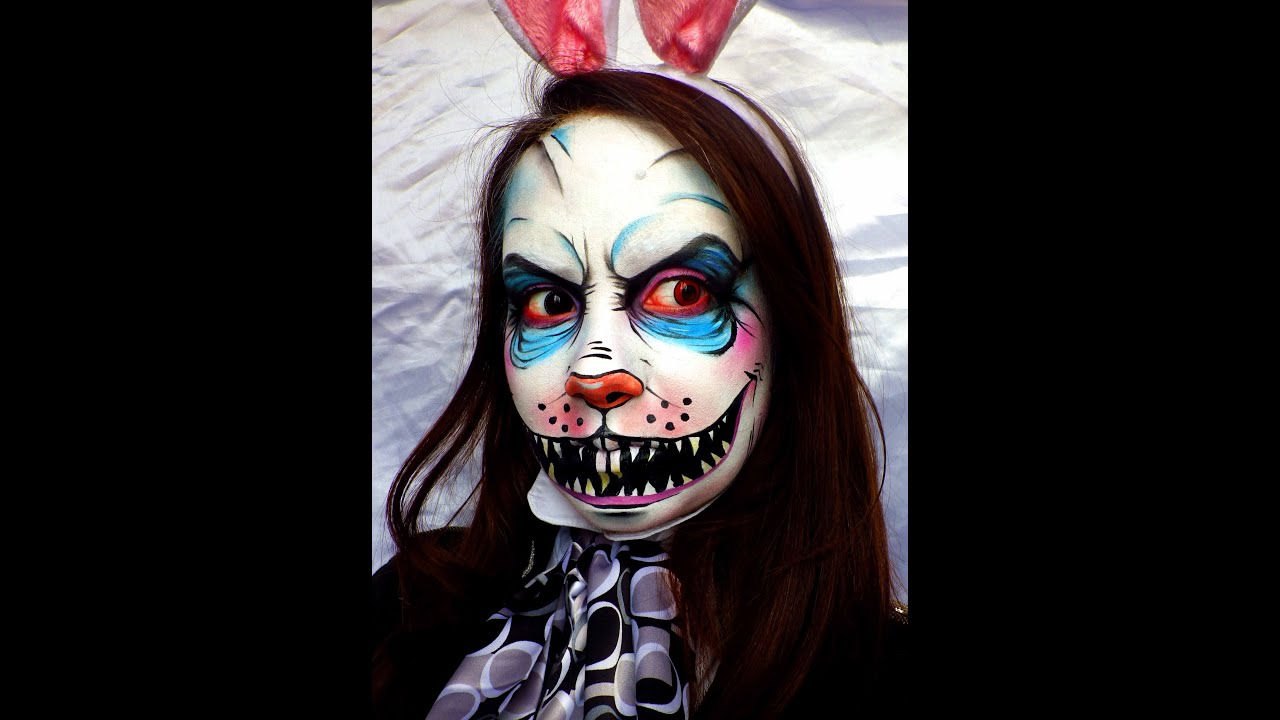 Maquillage artistique lapin blanc d 39 alice youtube - Maquillage chat femme ...