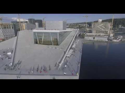 Oslo opera filmed with Phantom 4 DJI, Drone