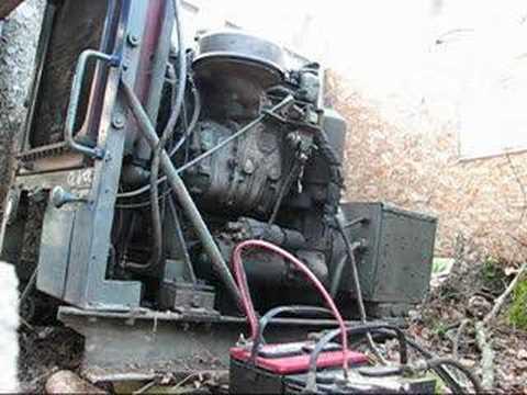2-71 Detroit Diesel generator running - YouTube