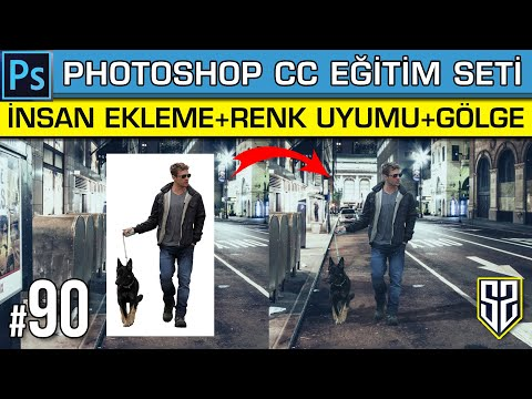 Photoshop Dersleri 90: Fotoğrafa İnsan Ekleme ( Renk Uyumu Ve Gölge Ekleme Arka Plan Değiştirme )