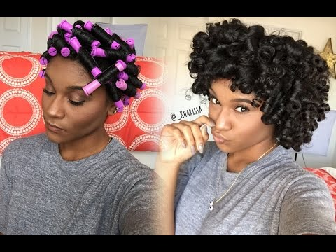 natural hairstyles perm rod set
