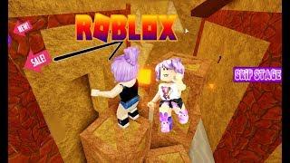 ROBLOX-Ana & Bela, DANGEROUS FUN! (Obby Adventure)