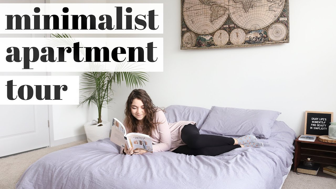 Minimalist apartment tour two bedroom youtube for Minimalist bedroom tour