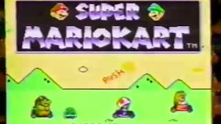 Super Mario Kart 1992 Snes Commercial ITS WILD!
