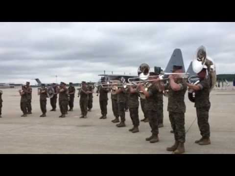 U.S. Marine Band New Orleans plays God Bless America - 17 June 2017
