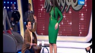 5 مووواه - الراقصة دينا تتحدى صافينار بالرقص بالفستان الأخضر والكعب العالى على طبلة سعد الصغير