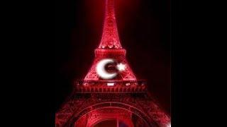 Eyfel Kulesi Kırmızı Beyaz #Paris #EURO2016 #TUR