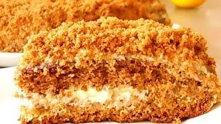 """Торт """"Медовик"""" - пышный и воздушный - вкус нежнее классического!"""