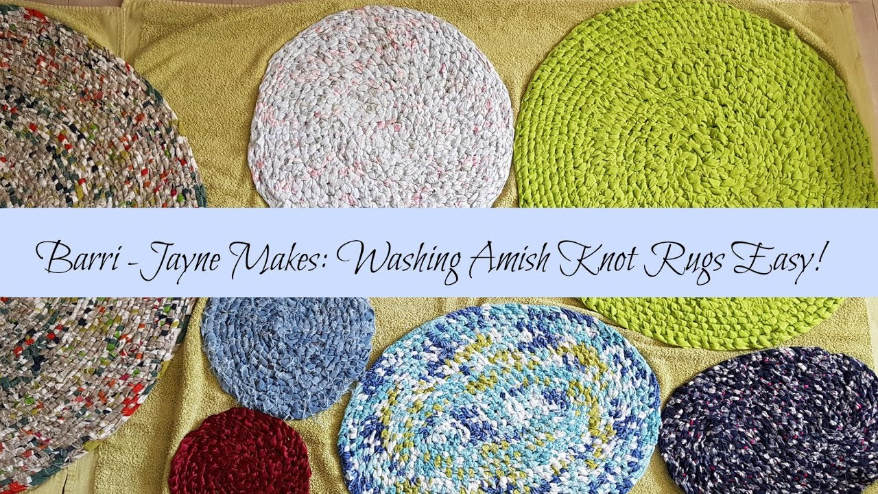 Washing Your Amish Knot Toothbrush Rag Rugs How To Guide