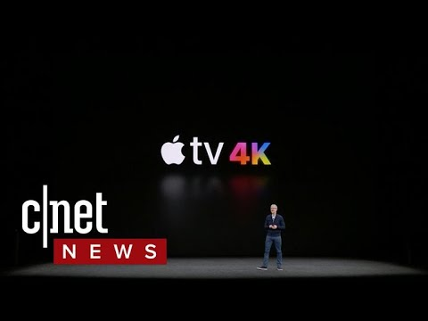 Apple TV 4K with HDR video support revealed at Apple event (CNET News)