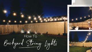 Installing Outdoor String Lights