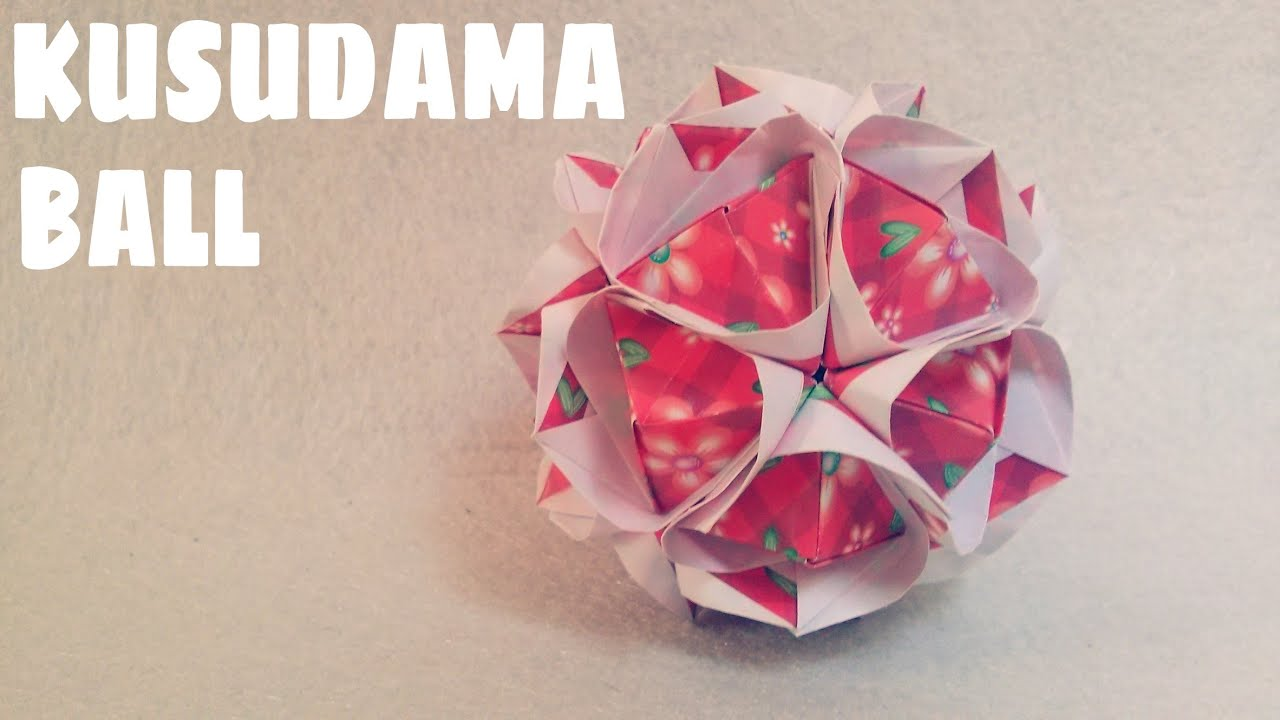 How to make - Kusudama Flower Ball || kusudama flower bouquet ... | 720x1280