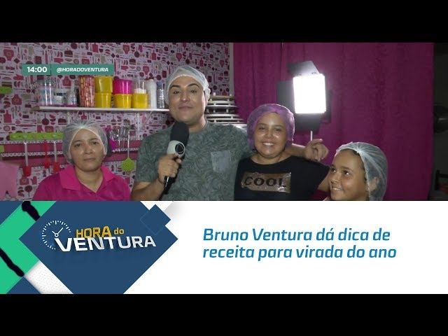 Bruno Ventura dá dica de receita barata para a virada do ano  - Bloco 01