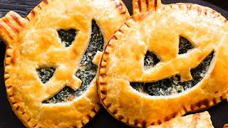 How to Make Spinach Jack-O'-Lantern Hand Pies | Sunset